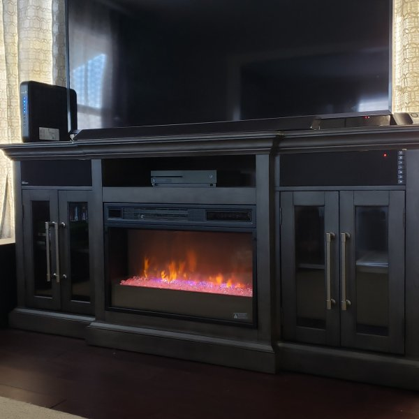 Elise 72 Tv Console W Electric Fireplace Fireplace Tv Stand Built In Electric Fireplace Fireplace Black electric fireplace tv stand