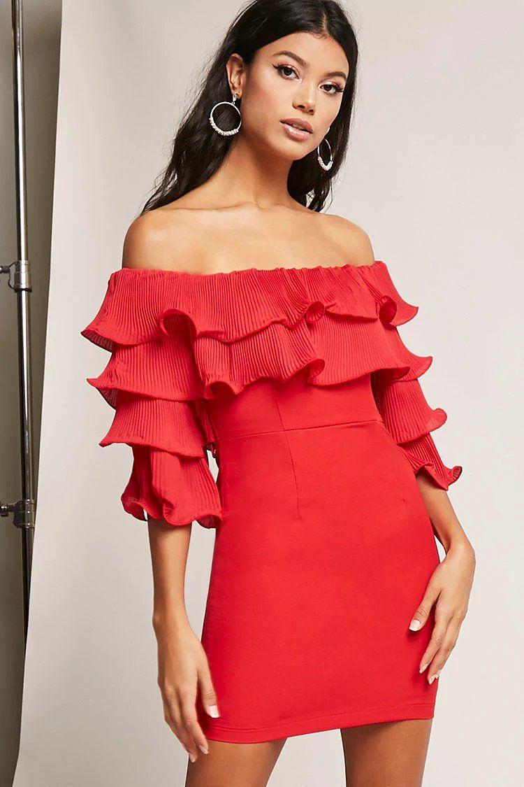 de4114ec1b Product Name Pleated Flounce Mini Dress