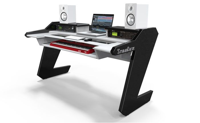 desks keyboard table plans home images onsingularity com studio recording rustic b desk