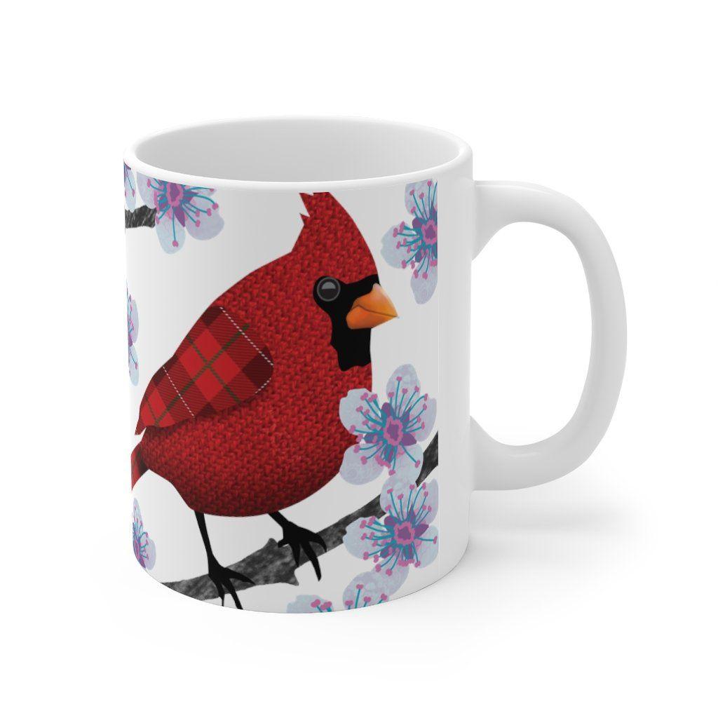 Cardinal Blossom Mug - 11oz