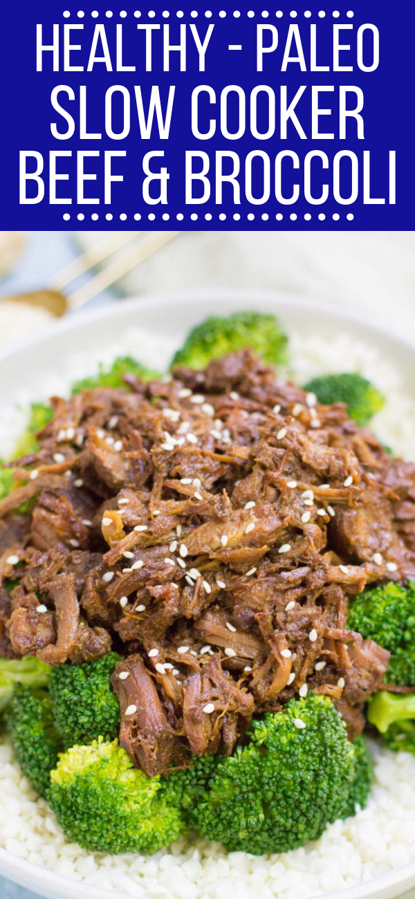 Healthy Slow Cooker Beef and Broccoli #beefandbroccoli