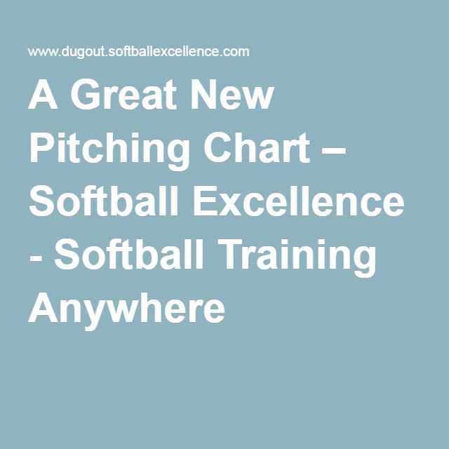 A Great New Pitching Chart  Softball Excellence  Softball
