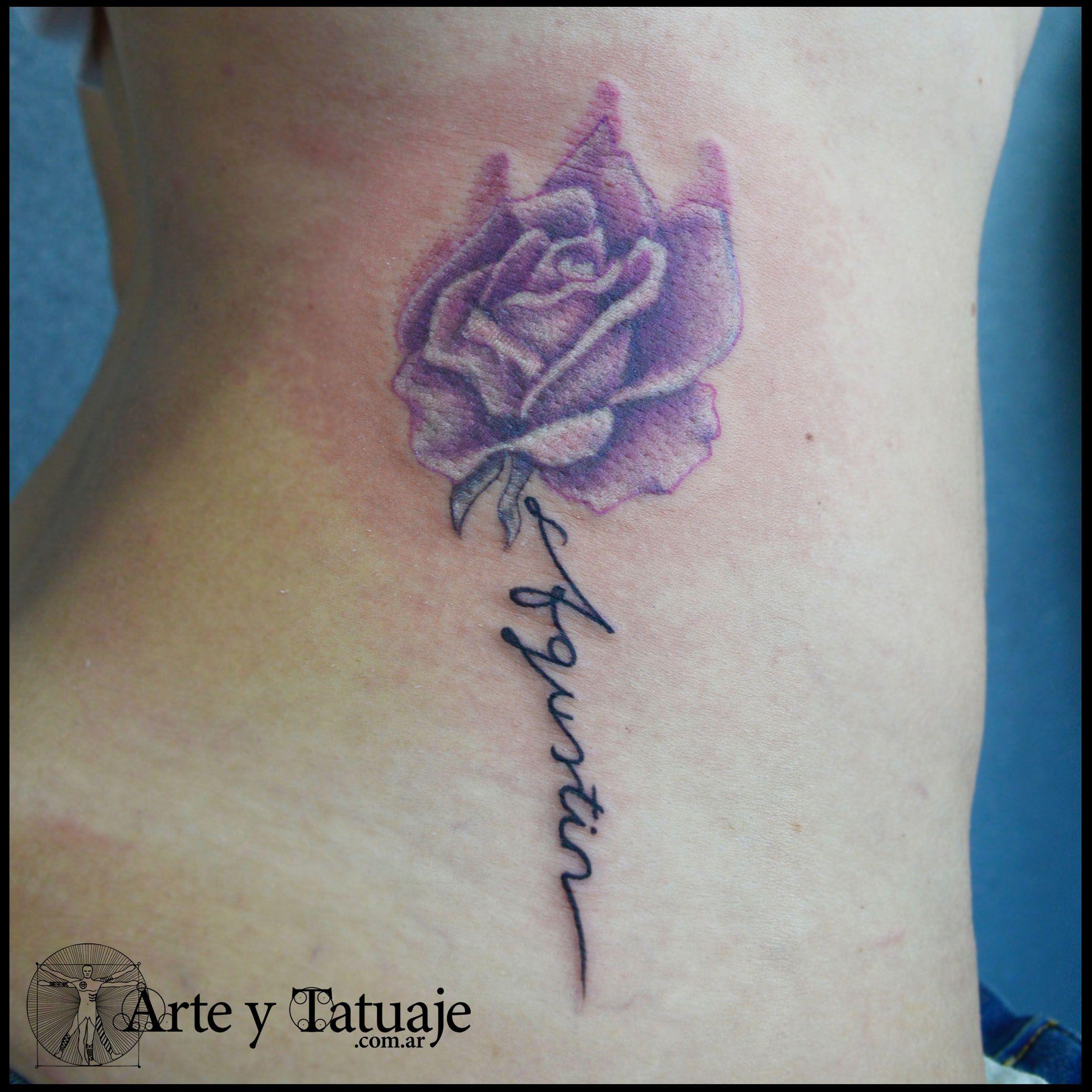 Tatuaje de rosa con nombre, por Leandro en #arteytatuaje #tattoo #design # tattoos #tattoolife #INK #in… | Tatuaje a color, Artistas del tatuaje, Rosas  con nombres