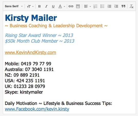 Loved setting up my new email signature after winning our ...