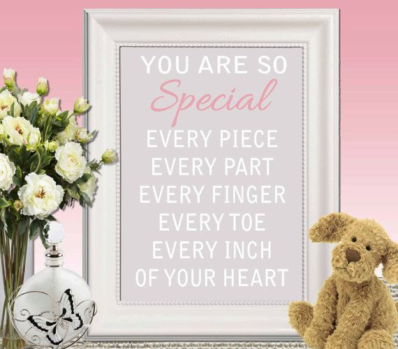 Nursery print Gray pink Nursery decor Nursery quote by DorindaArt