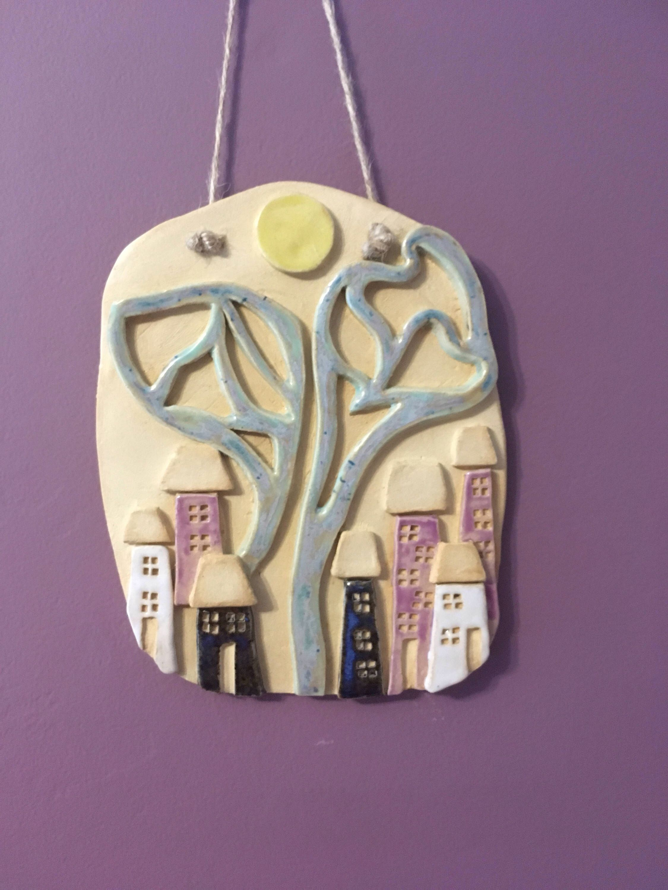 Wall Hangings Ceramic Hanging Decoration Ornament House