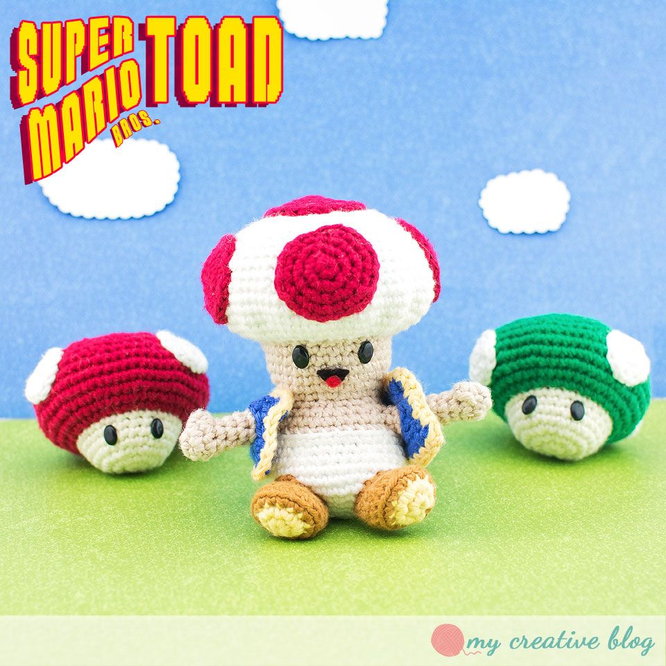 Super Mario Brothers Toad - Free Crochet Pattern | Crochet ...