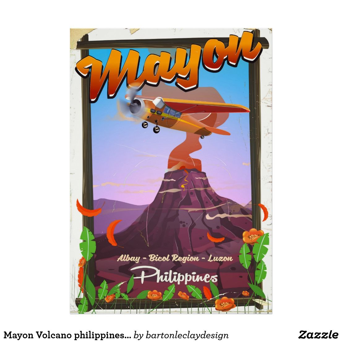 Mayon Volcano philippines adventure poster
