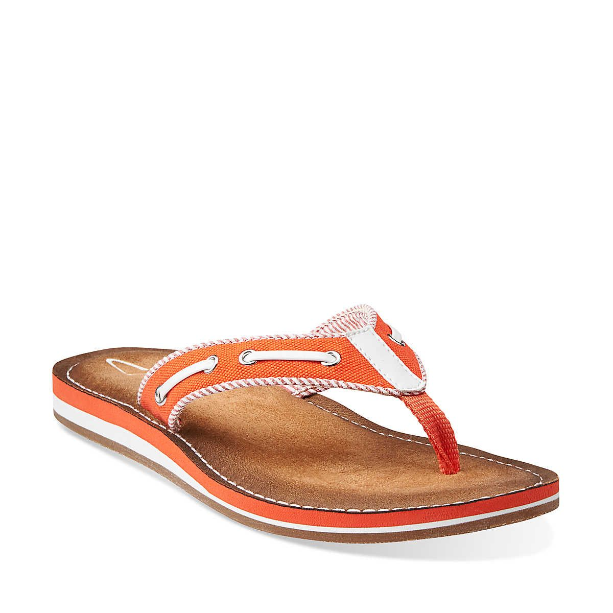 2f01660a75 Flo Cherrymore in Coral Synthetic - Womens Sandals from Clarks ...