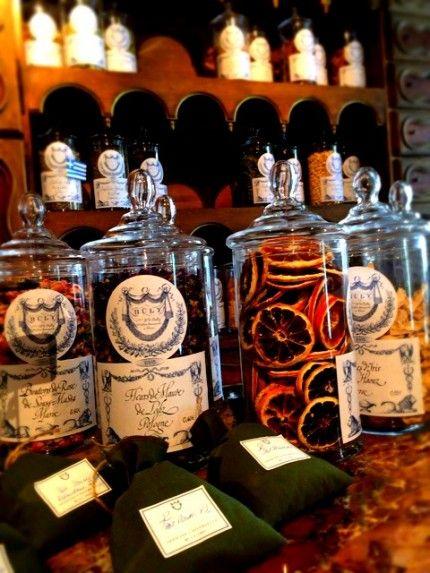 potpourri bottles and sachets