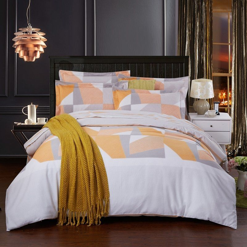 Metallic Gold and White #Bedding #Bedspread #Bedroom Sets
