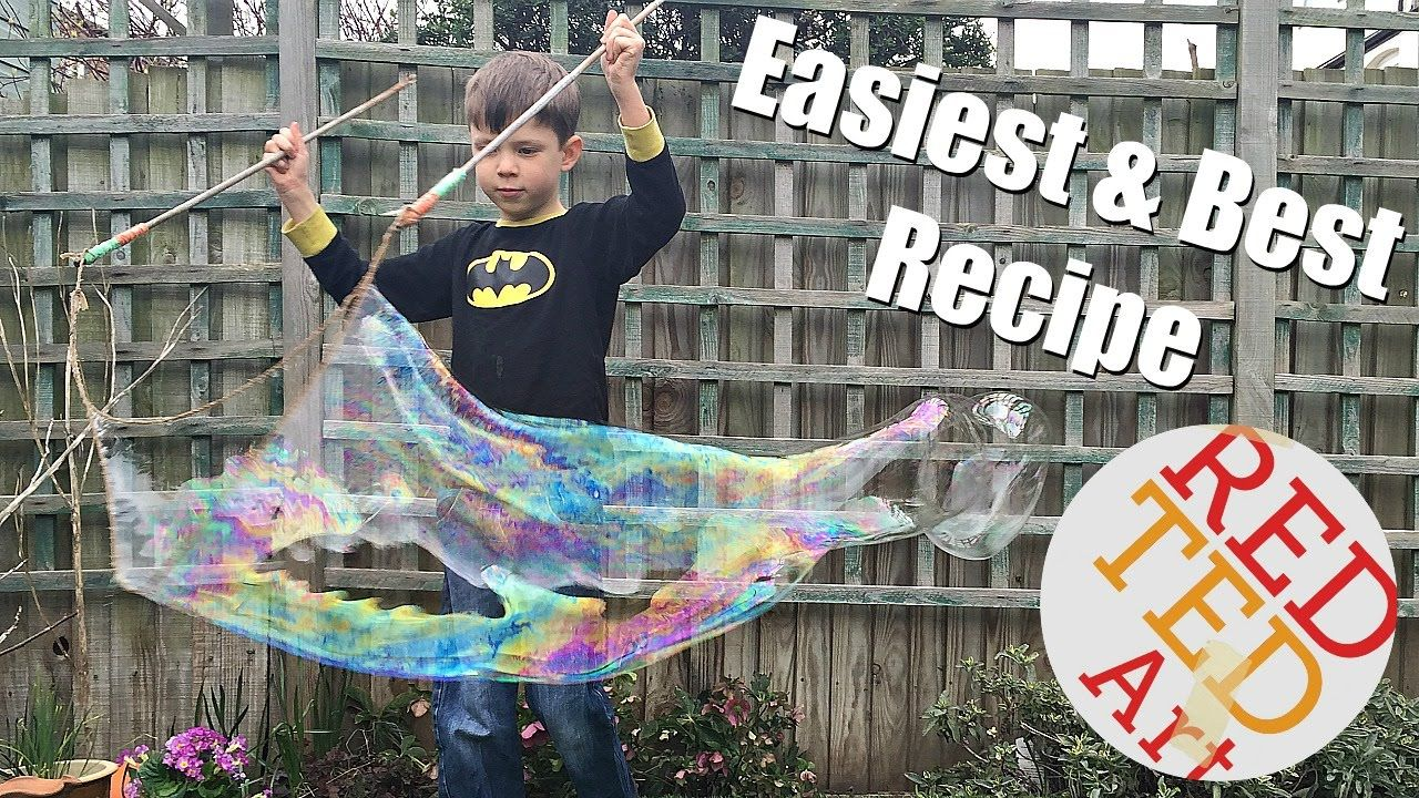 DIY Bubble Recipe & Giant Wands How To so easy Bubble