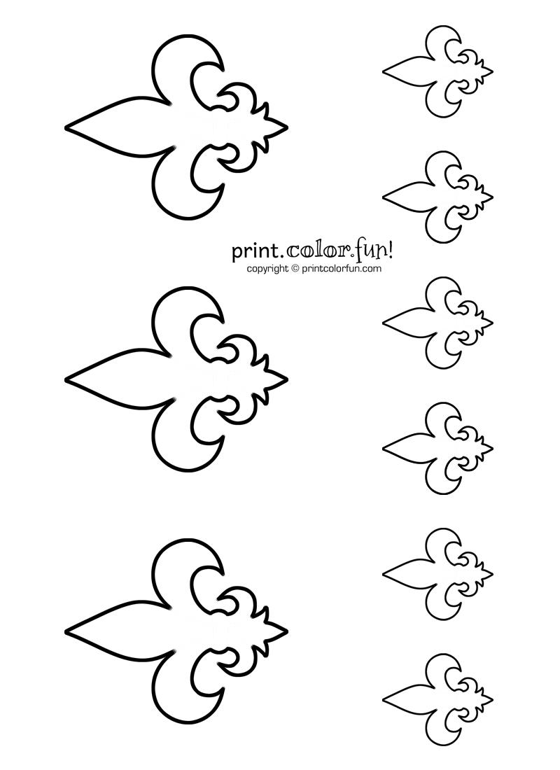Stencils Fleur De Lis 2 Print Color Fun Free Printables Coloring Pages Crafts Puzzles Cards To P Eagle Scout Ceremony Scouts Crafts Scout Activities