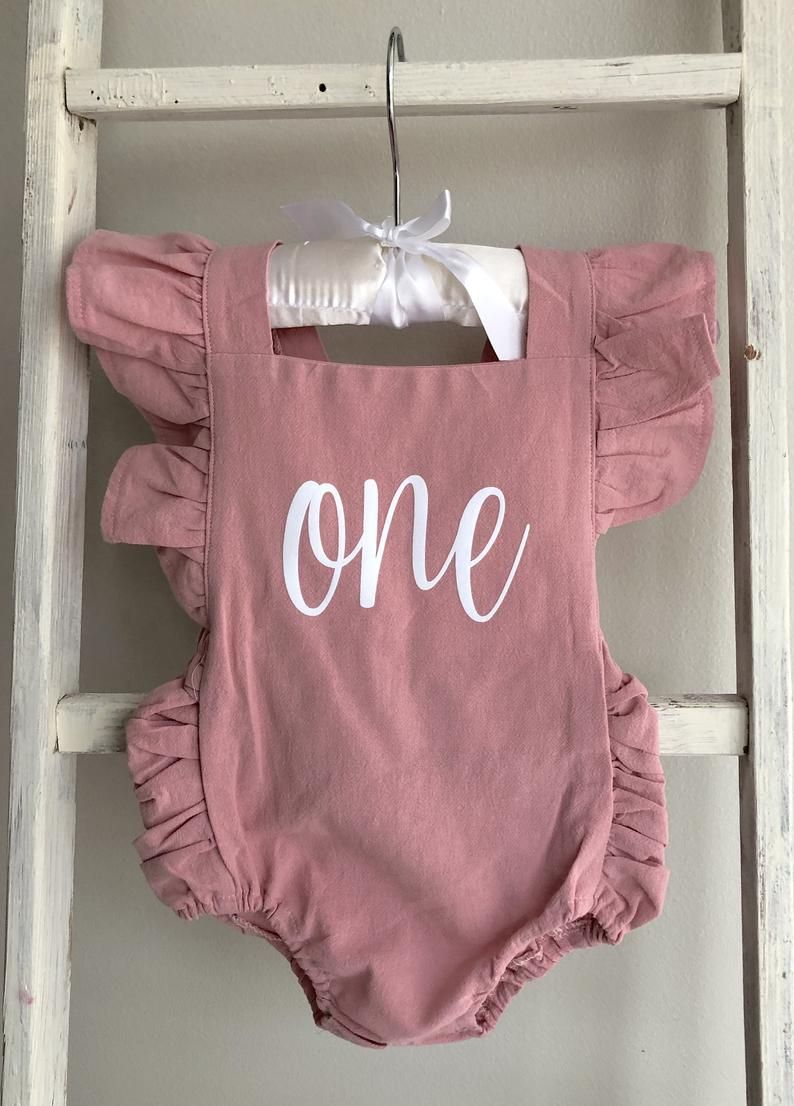 Blush First Birthday Outfit // Baby Girl First Birthday Outfit // One Outfit // Baby Girl Outfit // One Romper // One Birtday Outfit / Blush