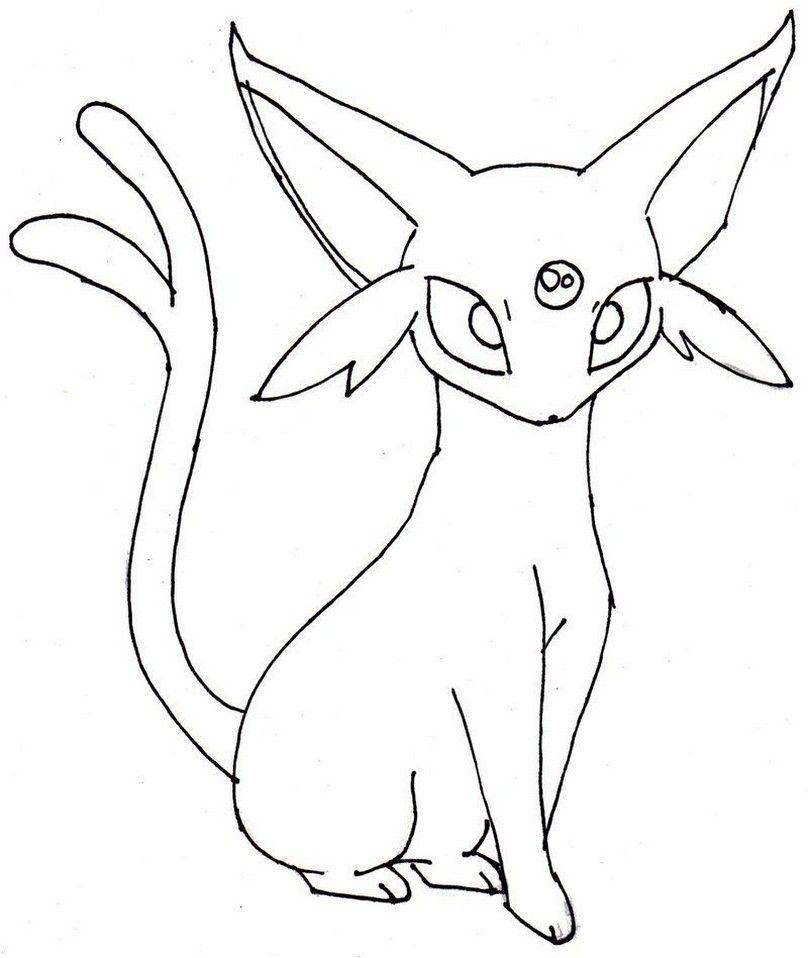Pokemon Espeon Coloring Pages Pokemon Coloring Easy Pokemon