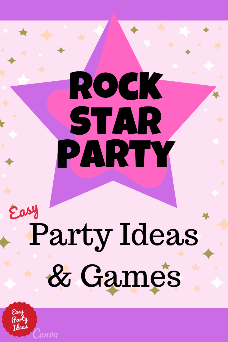 Rock Star Party Ideas and Games  #rockstarparty