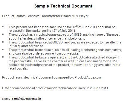 Sample Technical Document | Technical Documents | Pinterest