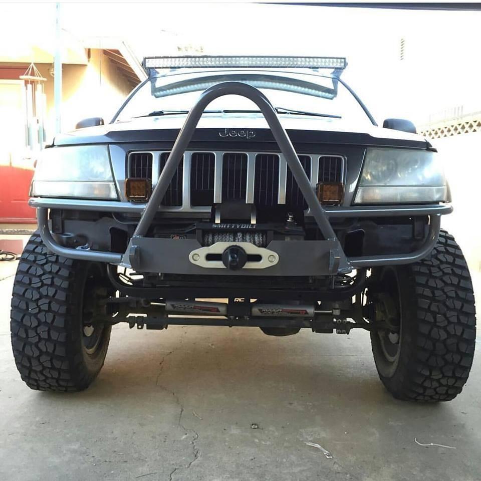 WJ Hidden Winch Mount W/ Shackle Tabs Jeep wj, Jeep