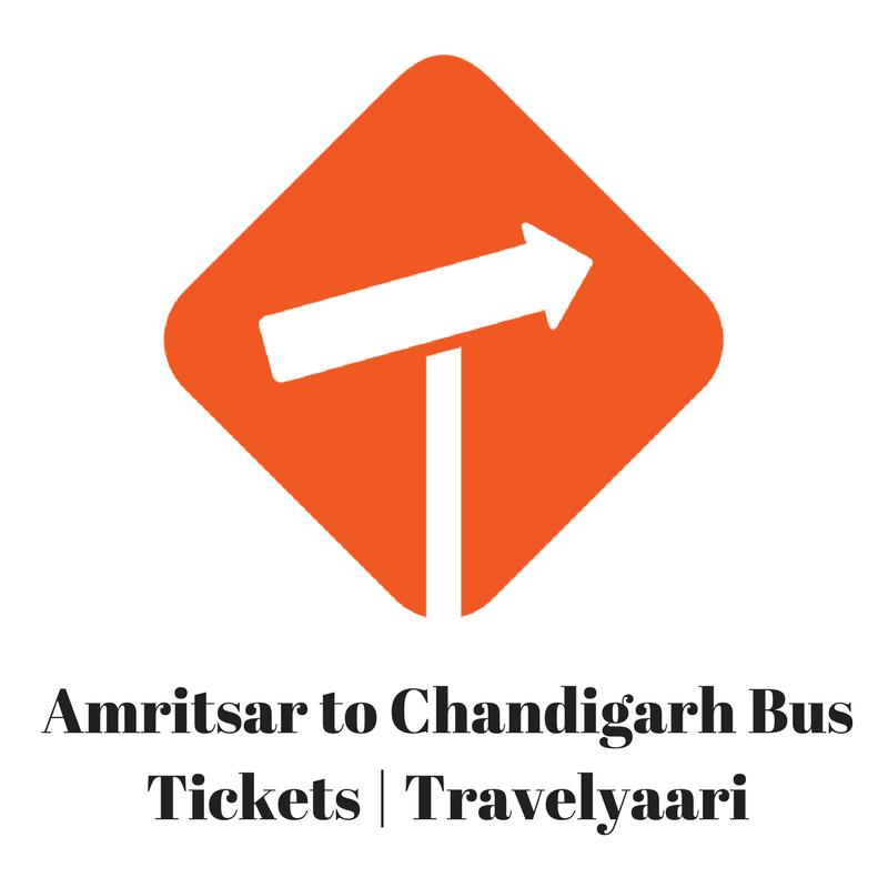 Amritsar To Chandigarh Bus Ticket Booking At Travelyaari