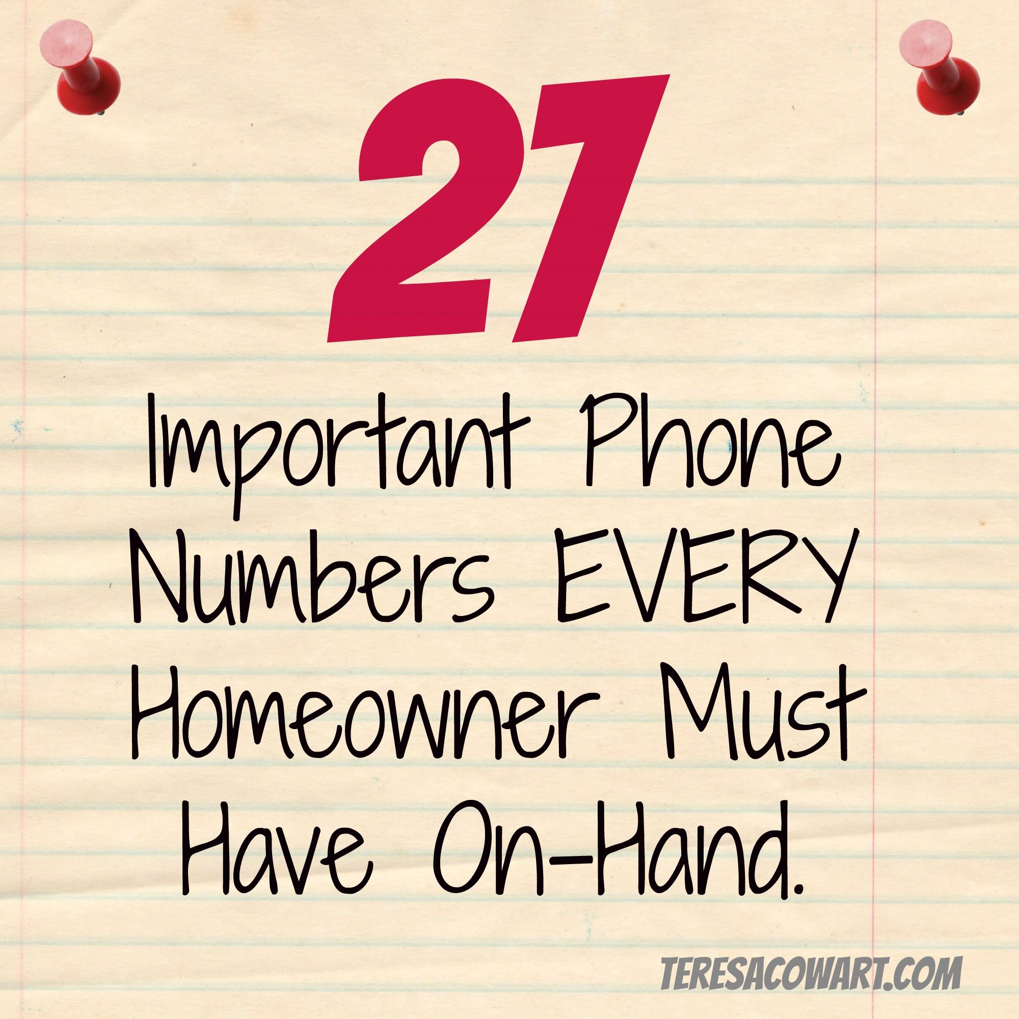 27 Important Contact Numbers Every Homeowner Should Have