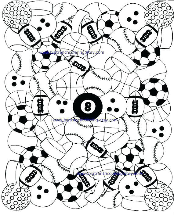 adult coloring pages sports sports balls coloring pages sports ...