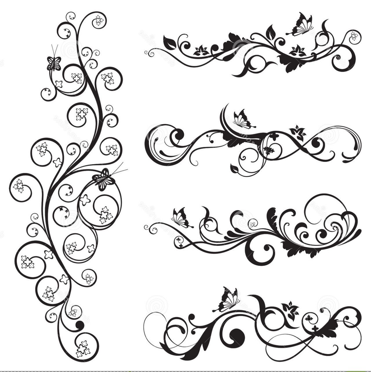 Flower Tattoo With Vines: Vintage Flower Vine Tattoo Collection Of Wintage Floral