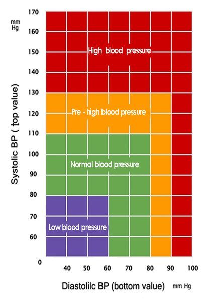 Lower Blood Pressure Naturally  Chart Blood And High Blood Pressure