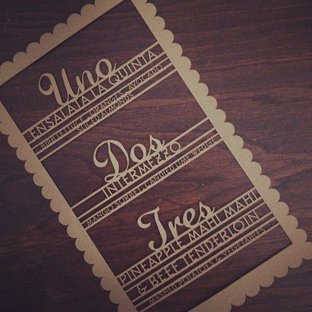 Check Out Our Laser Cut Mexican Wedding Menus On Wood Grained Paper Designed By Alchemy Fine Events Invitations Www Alchemyfineevents