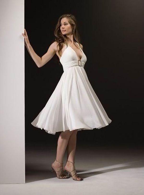 Short Halter Wedding Dresses