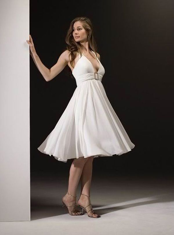 Short Halter Style Wedding Dresses