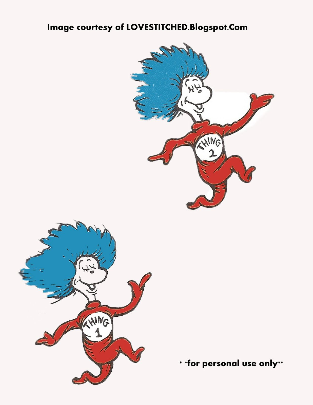 dr.seuss thing 1 and thing 2 printables | Dr Seuss Thing one and ...