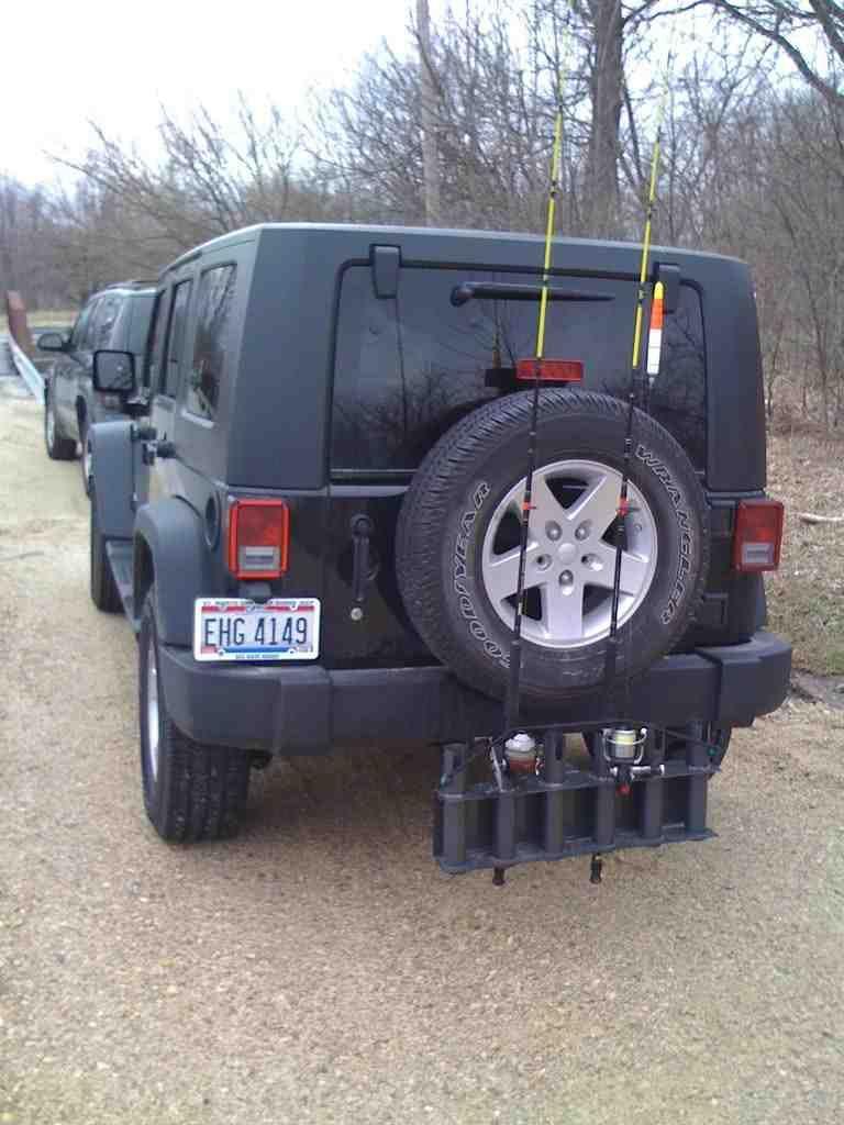 Jeep Wrangler Kayak Rack >> Jeep Wrangler Fishing Rod Holder   Fishing rod holder ...