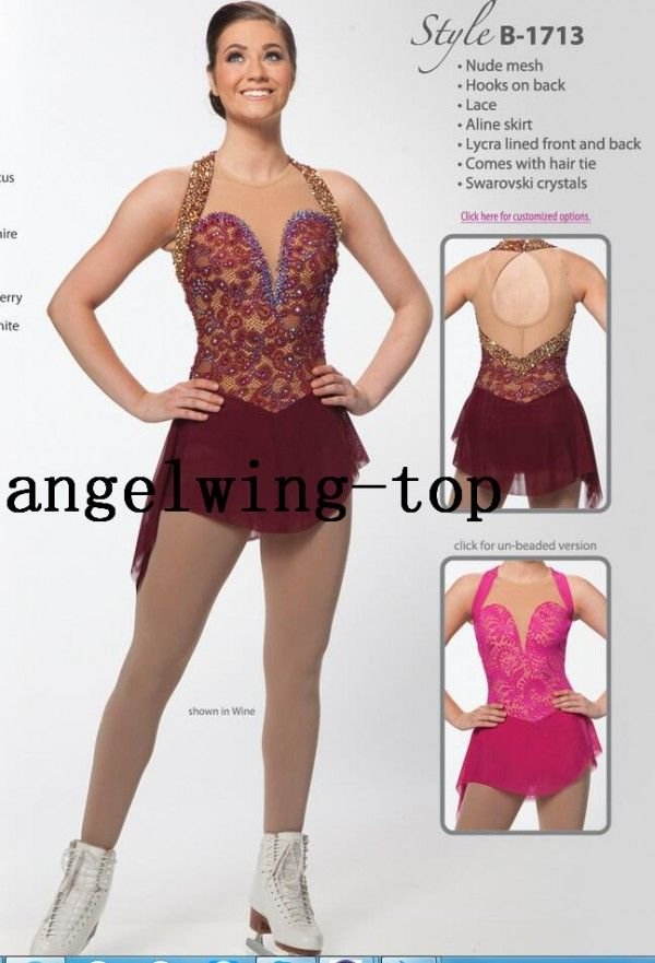 408ebdf8e8779 High Quality Figure Skating Dress Wine Red Custom Brad Griffies ...