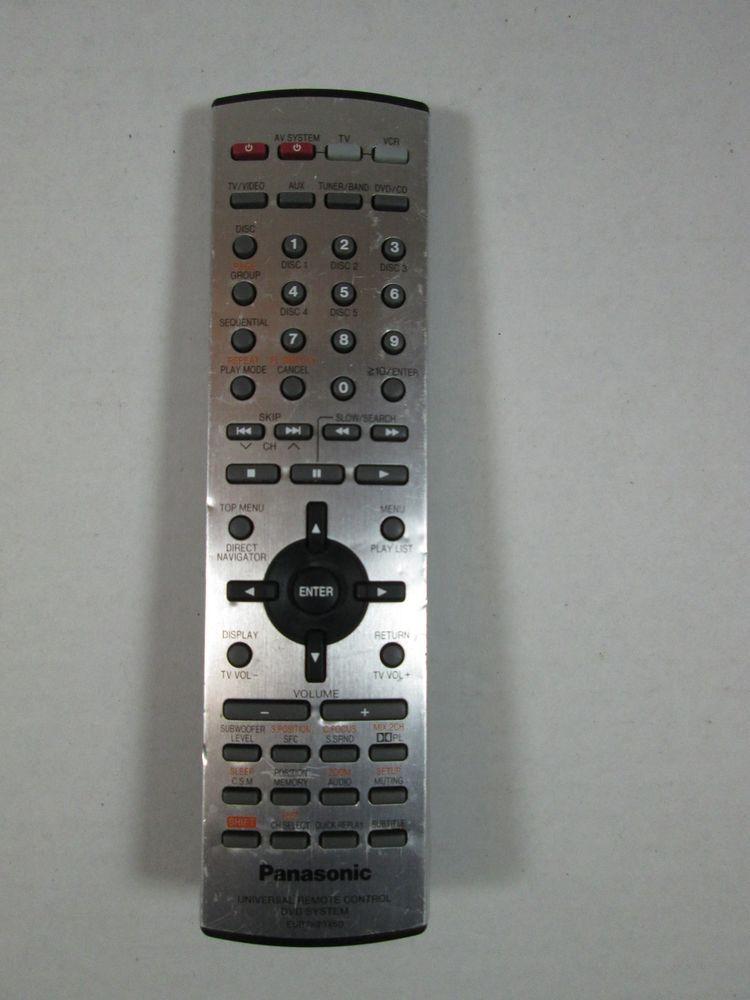genuine panasonic eur7623x60 dvd system remote control sa ht690 rh pinterest com Panasonic Technical Support Manual Panasonic Radio