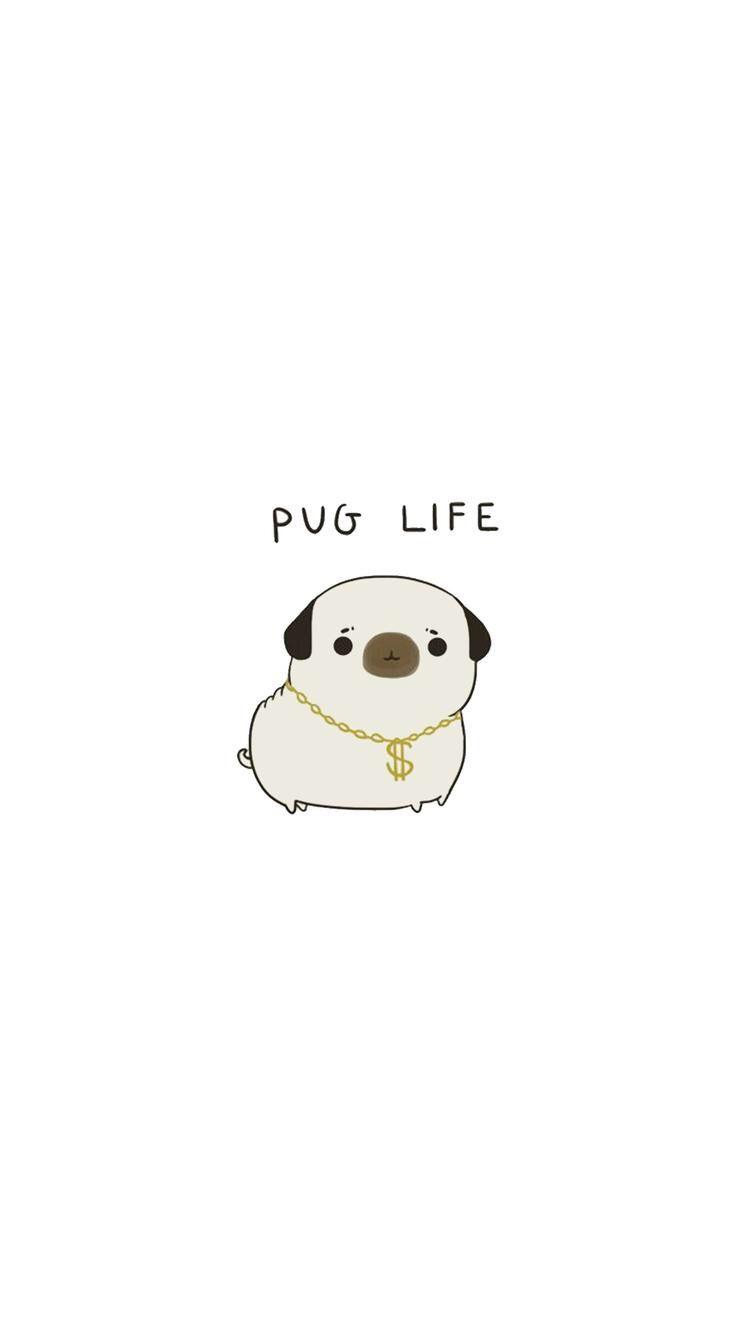 Awesome Wallpaper Pug Wallpaper Wallpaper Iphone Cute Cute Pugs