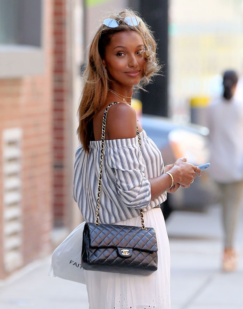 Just Can t Get Enough  Jasmine Tookes and Her Chanel Classic Flap ... 14310b7719632