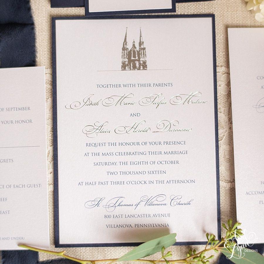 We love creating custom wedding invitations and what you see below ...