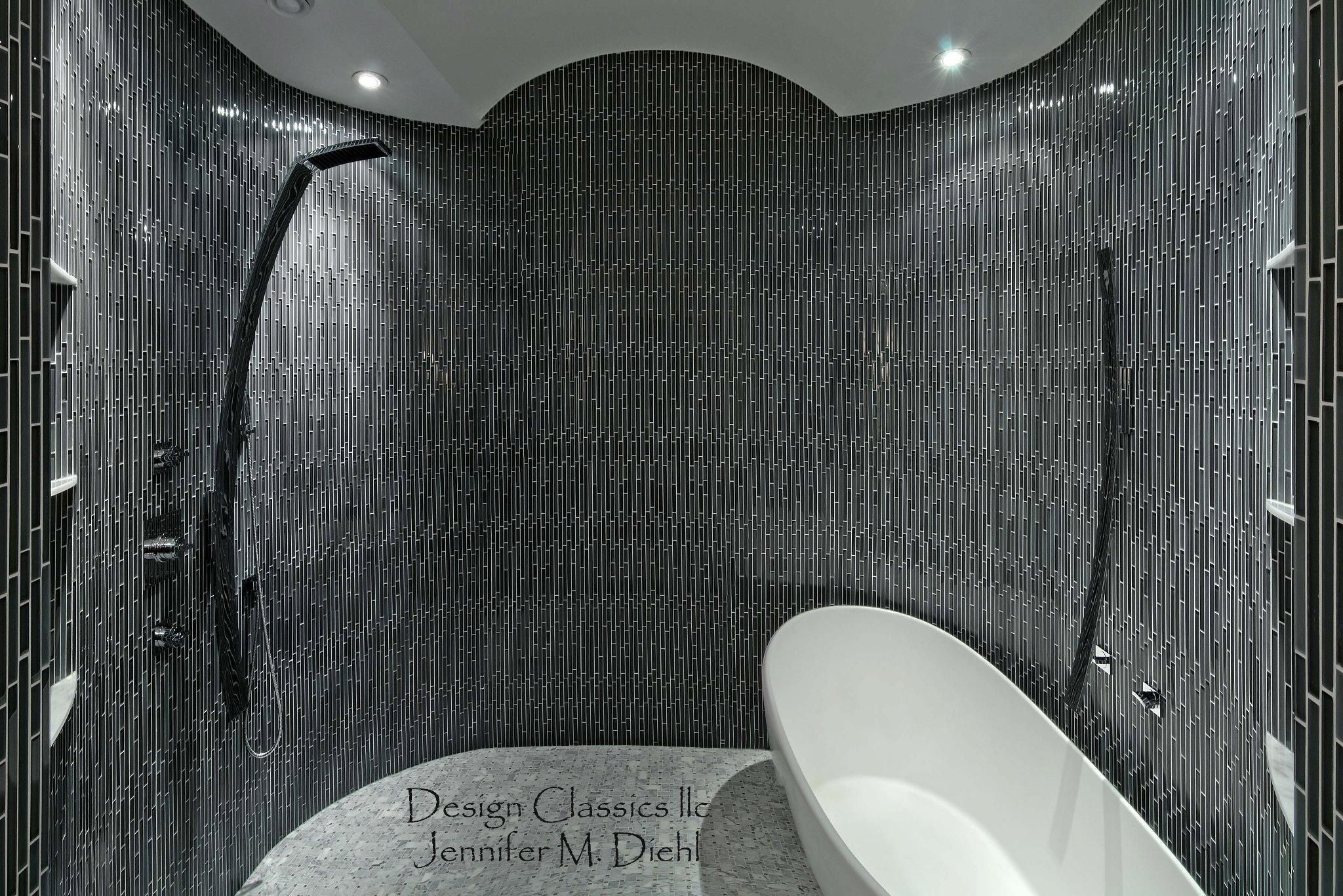A beautiful wet room space featuring graff39s luna for Interior design wet rooms