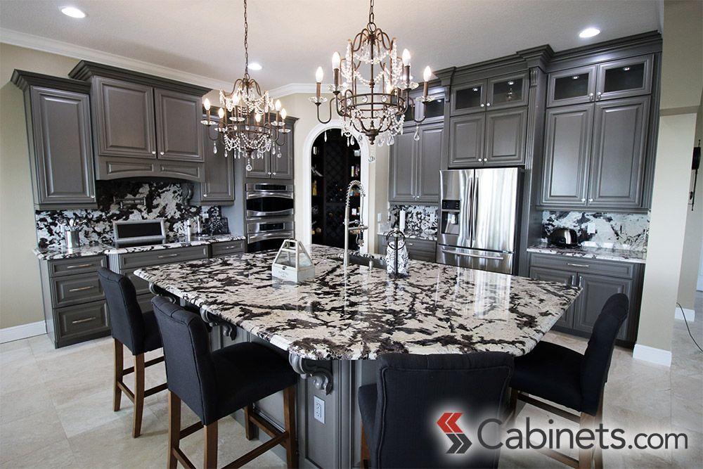 Cabinets Com By Kitchen Resource Direct White Granite Countertops Grey Dark