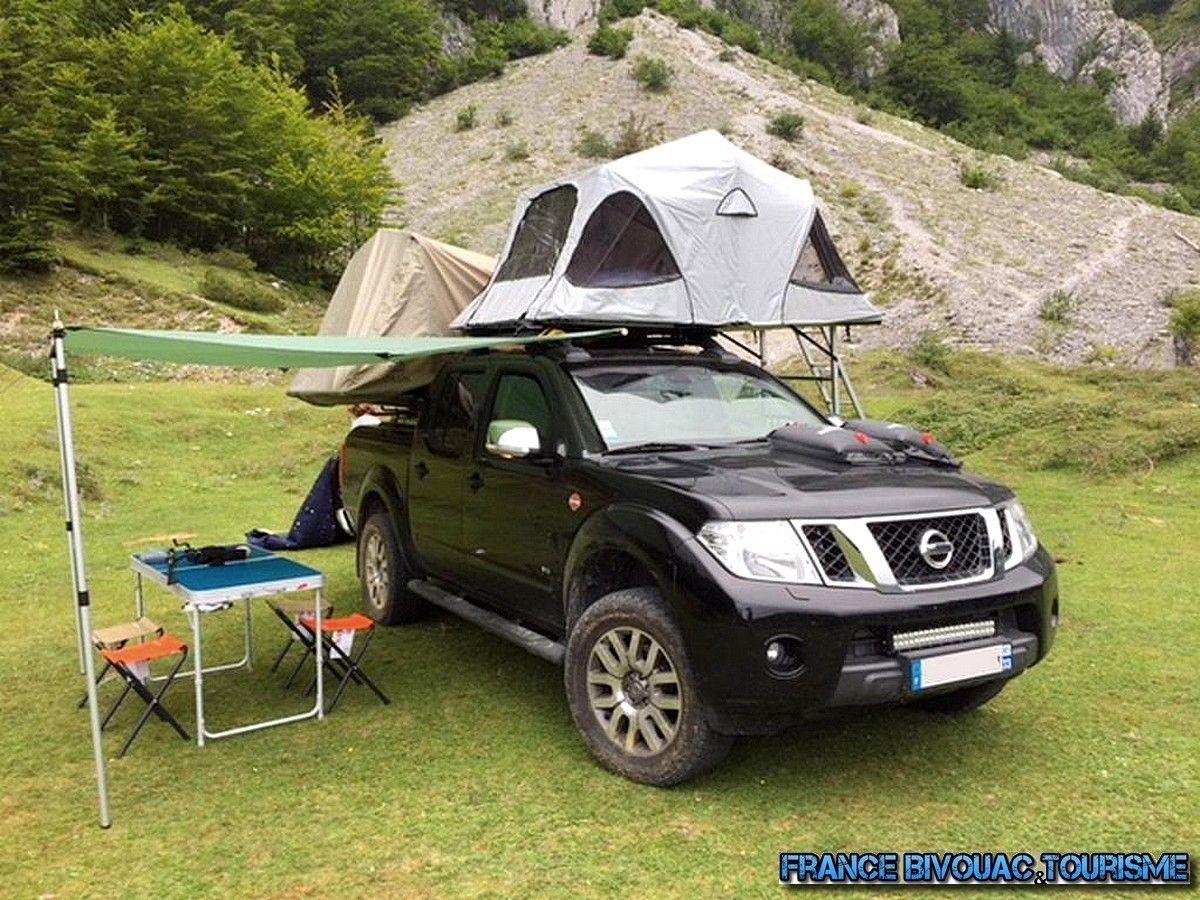 pick up 4x4 nissan navara double cab avec double tente de toit double rtt roof top tent 4wd. Black Bedroom Furniture Sets. Home Design Ideas