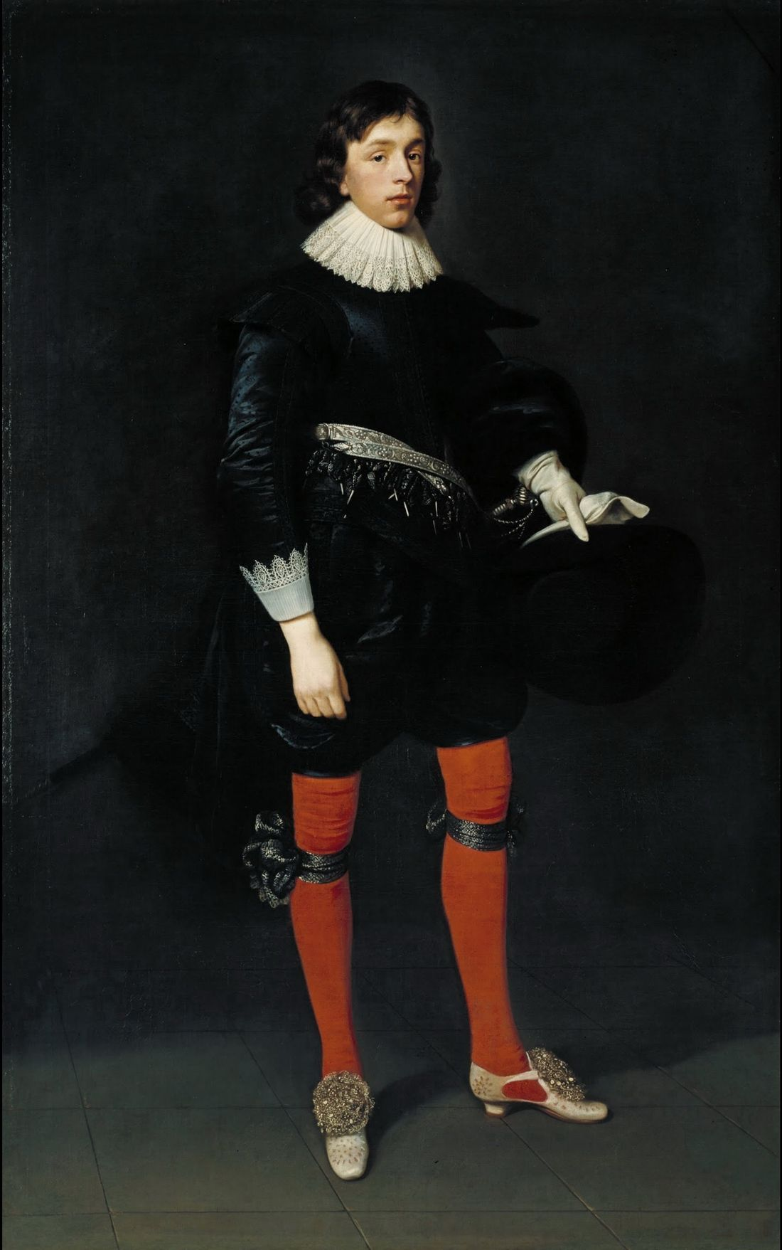 Daniel Mytens the Elder - Portrait of James Hamilton, Earl of Arran, Later 3rd Marquis and 1st Duke of Hamilton, Aged 17