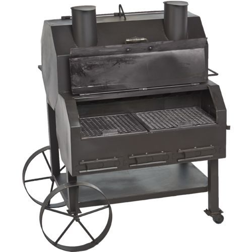 Old Country BBQ Pits Over and Under Smoker | Jawbone Gourmet