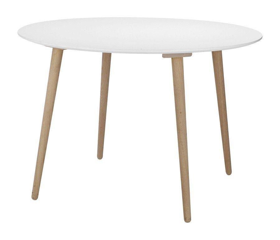 Stavanger Spisebord - Ø110 - Elegant spisebord med hvid ...
