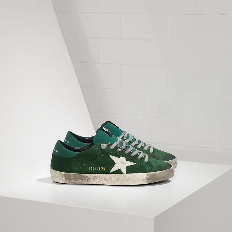Sneakers Homme Superstar Green Blue White StarGolden Goose E6982rWt6