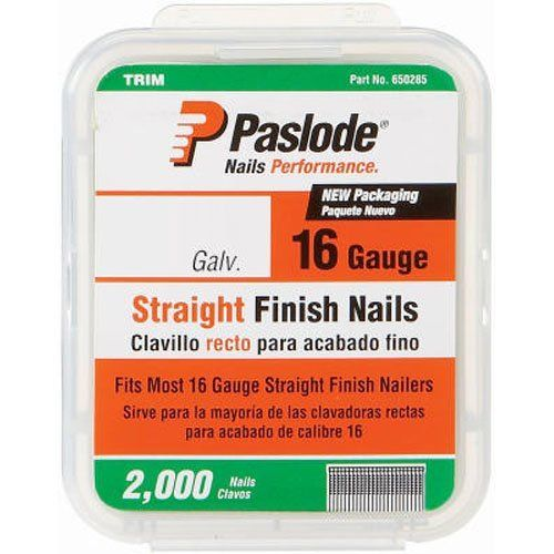 Paslode 650283 1 1 2 Inch By 16 Gauge Galvanized Straight Finish Nail 2 000 Per Box Check Out The Image By Visiting The It Is Finished Galvanized Air Tools