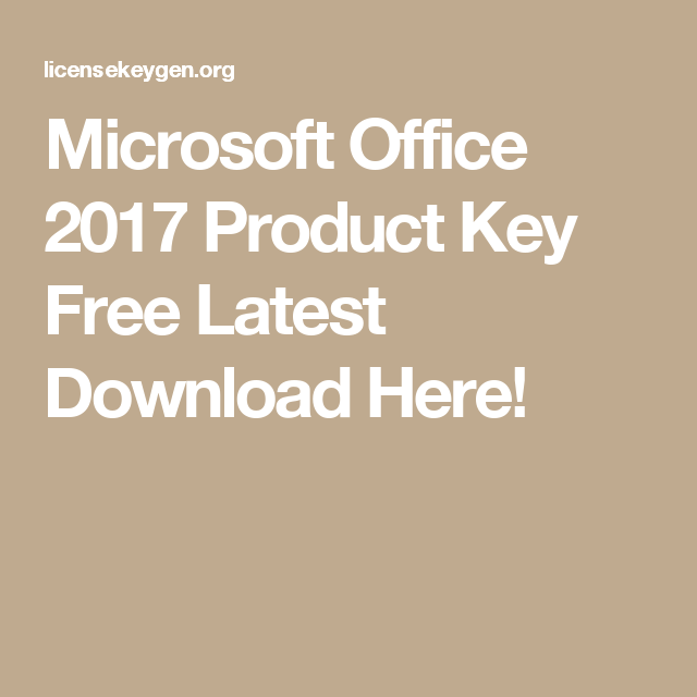 free microsoft office 2017 product key