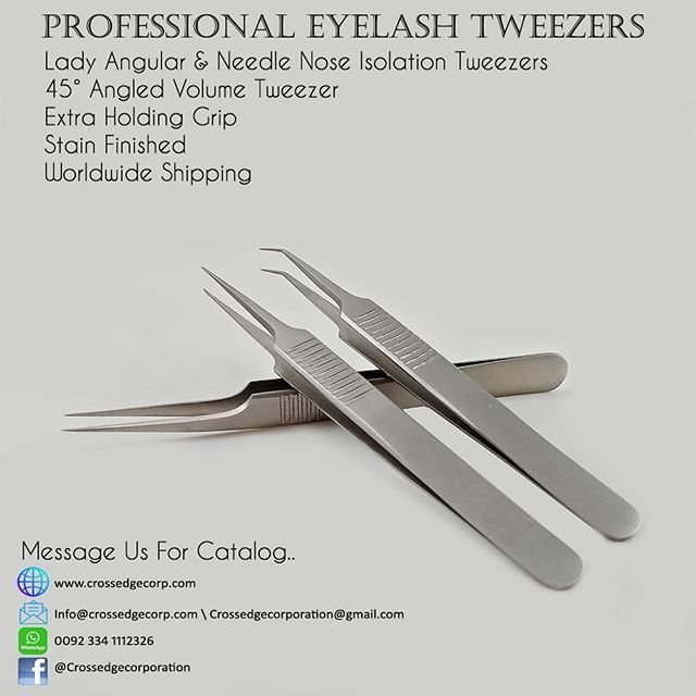 Classic and volume lash tweezers  Message us for catalog  Whatsapp
