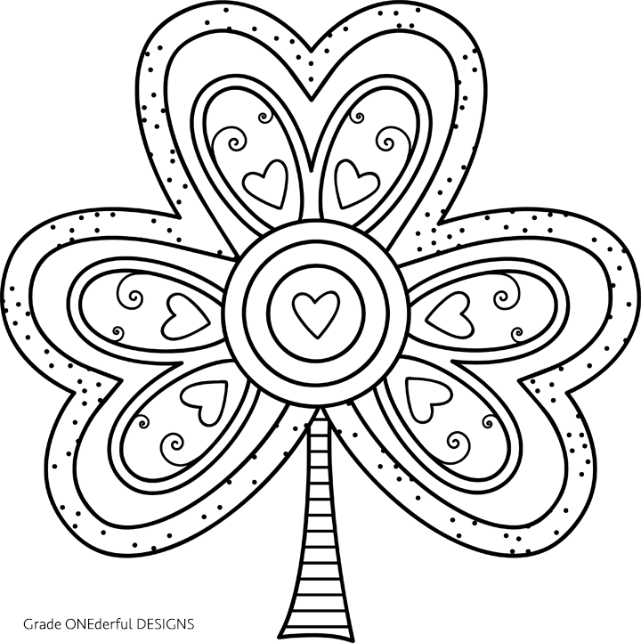 Free Shamrock Coloring Page Coloring Pages Puppy Coloring Pages St Patricks Coloring Sheets