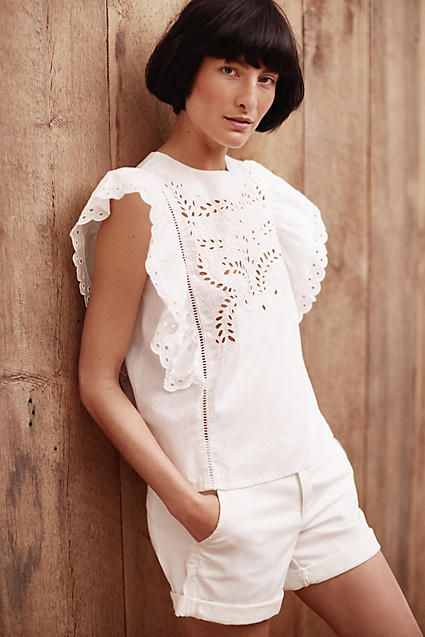 Pastora Eyelet Blouse - anthropologie.com