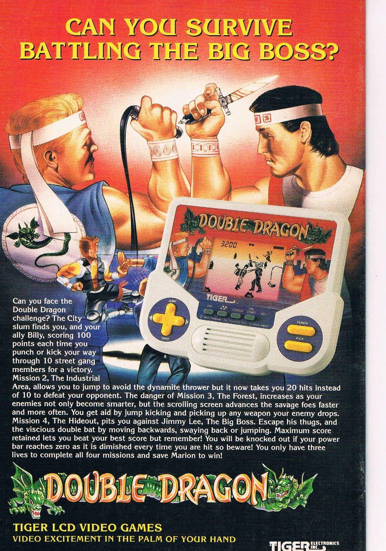 Double Dragon Video Game Double Dragon Vintage Posters The Big
